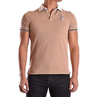 Jeckerson Ezbc069009 Men's Brown Cotton Polo Shirt