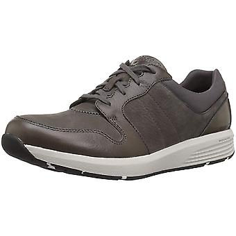 Rockport Womens derby trainer Leather Low Top Lace Up, Dark Grey, Size 9.0