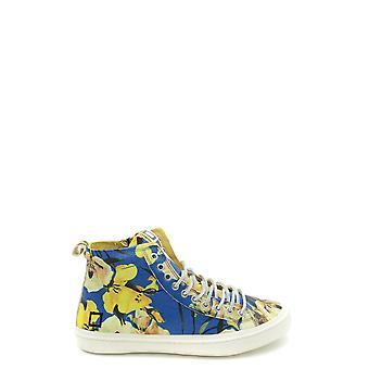 D.a.t.e. Ezbc177002 Men's Light Blue Leather Hi Top Sneakers