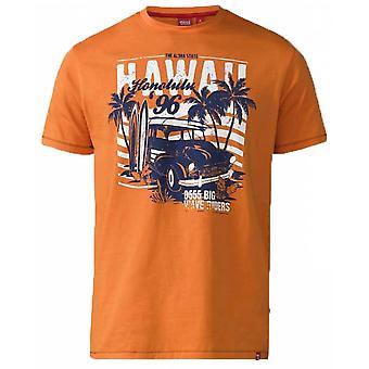 DUKE Duke Hawaii Honolulu Print Fashion T-Shirt