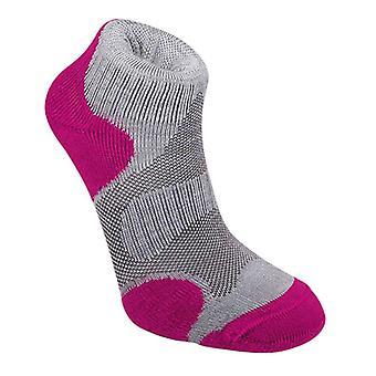 布里奇代尔小径运动女子袜子灰色/树莓