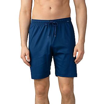Mey Men 20750-664 Herren Lounge Neptune Blue Cotton Pyjama Pyjama Short