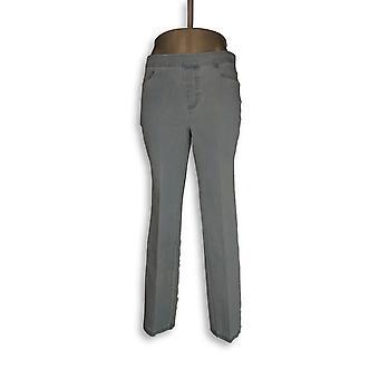 Isaac Mizrahi Live! Women's Petite Jeans 24/7 Denim Straight Leg Blue A297722