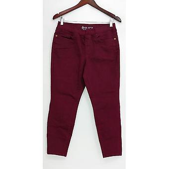 Denim & co. kvinner ' s Petite jeans myk strekk pull-on lilla A309761