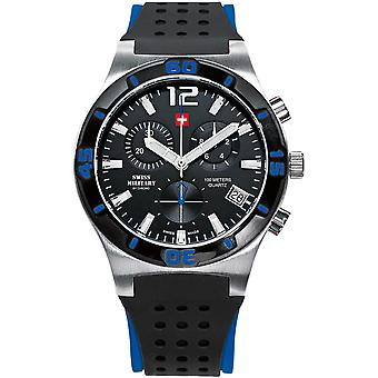Swiss Military Swiss Quartz Analog Man Watch with SM34015.08 Rubber Bracelet