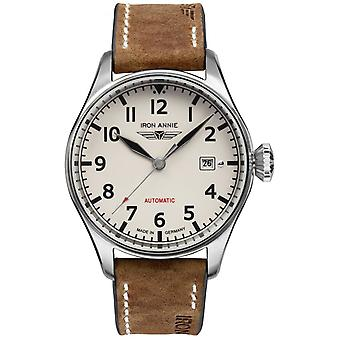 Iron Annie cockpit Automatic Analog Man Watch with Cowskin Bracelet 5162-3