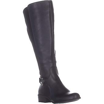 Alfani A35 Kallumm Wide Calf Riding Boots, Black/Neo, 7.5 US