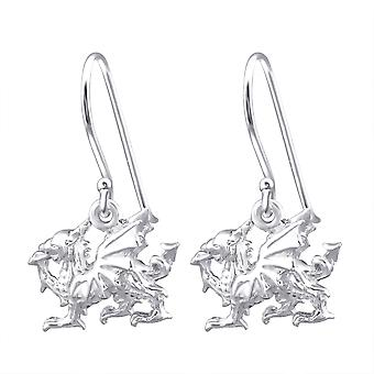 Dragon - 925 Sterling Silver Plain Earrings - W17983x