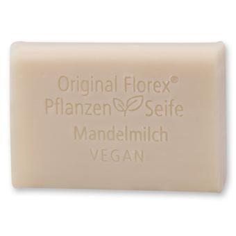 Florex Vegan Vegetable Oil Soap - Almond Milk - Creamy Oils Pamper and Care for The Skin 100 g