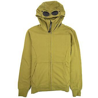 CP bedrijf diagonaal verhoogd fleece Goggle volledige zip hoodie Moss groen 639