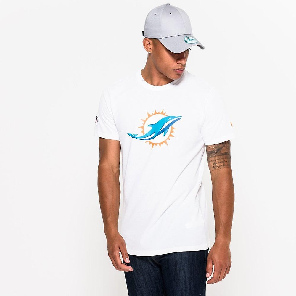 New Era Nfl Miami Dolphins White Team Logo T-shirt