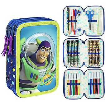 Toy Story Buzz Lightyear & Woody Trippel Skolset 43-delars Pennset Blå/Grön