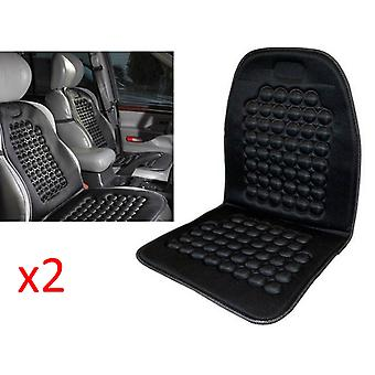 Kabalo UniversalCar Seat Massage Cushion. Black Padded Bead Pillow Seat Cover for Vans, Lorries & Any Vehicle. - Double Pack