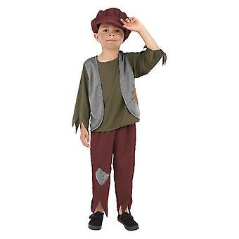 Boys Victorian Poor Boy Fancy Dress Costume