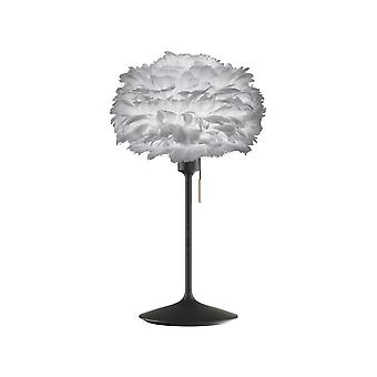 Umage Eos Table Lamp - Light Grey Feather Eos Mini/Black Stand