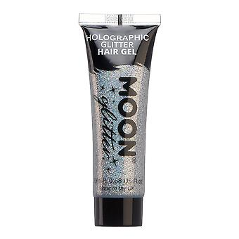 Holographic Glitter Hair Gel by Moon Glitter - 20ml - Silver