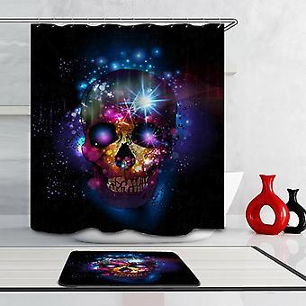Galaxy Skull Shower Curtain
