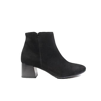Paul Green 9609-02 Black Suede Leather Womens Heeled Ankle Boots