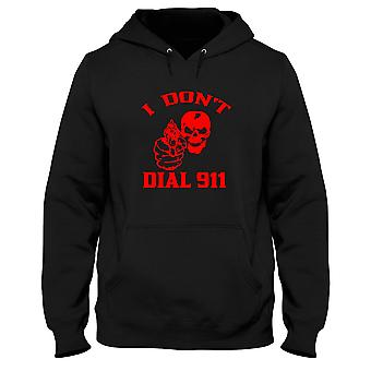 Black men's hoodie fun1965 i dont dial 911