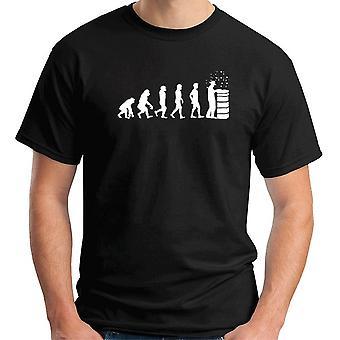 T-shirt uomo nero dec0262 evoluzione apicoltore