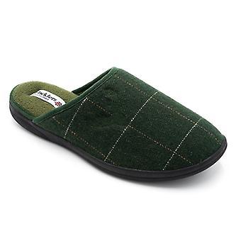 Padders Stag miesten tekstiili leveä (g sovi) mule Tossut vihreä Combi