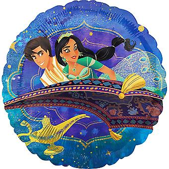Aladdin Flying Carpet Circle Foil Balloon