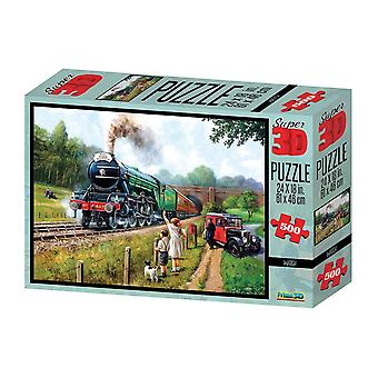 The Flying Scotsman 500 Piece 3D-Look jigsaw puzzle (kc)