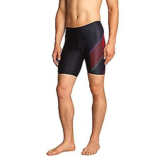 Zoggs Windsor Men's Swim Shorts in Black / Red with Drawstring Waist