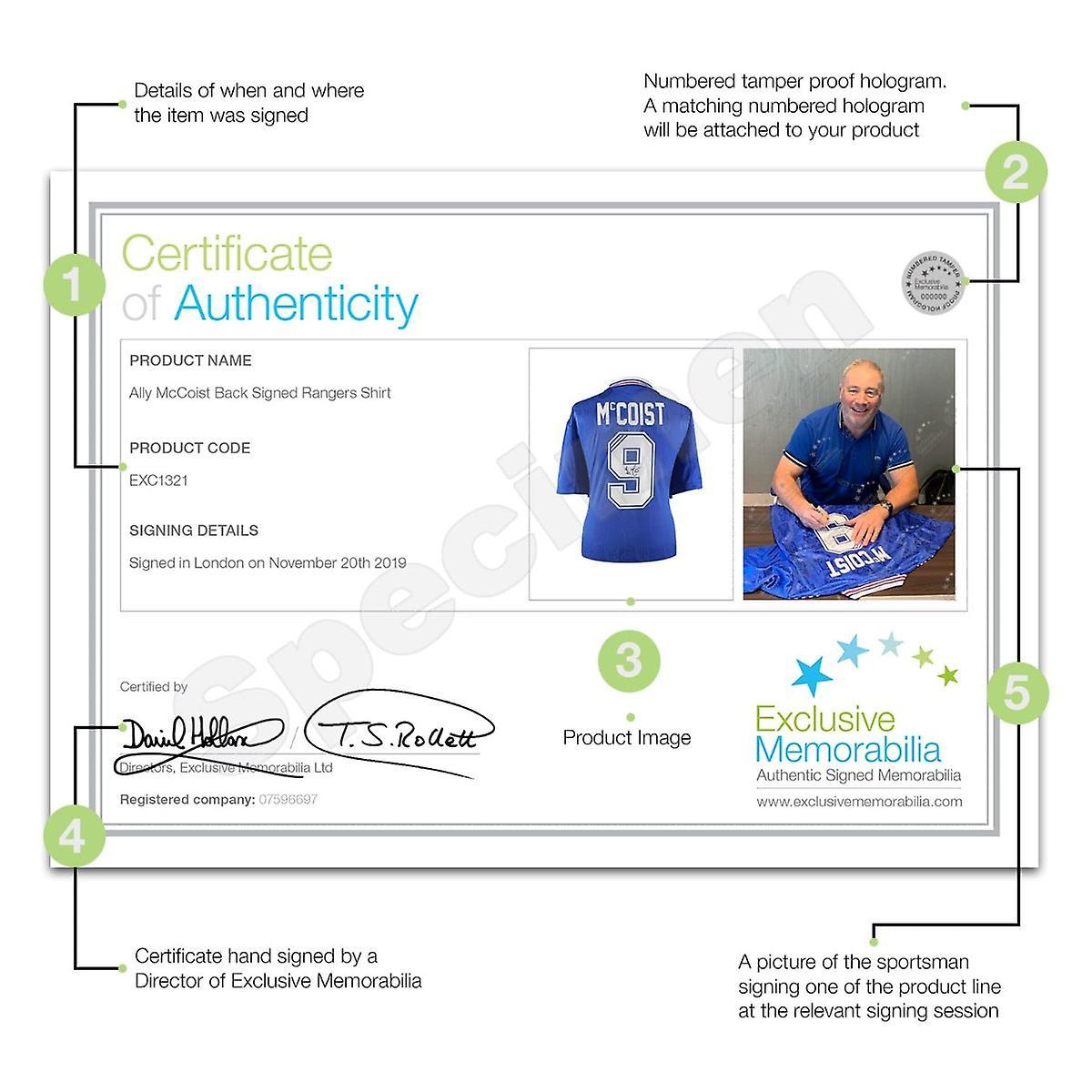 Ally McCoist Back Signed Rangers Shirt In Gift Box