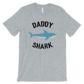 Daddy Mommy Baby Shark Family Matching Outfits Mens Grey T-Shirt