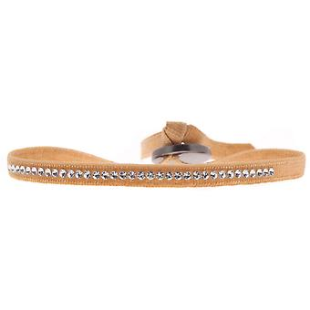 Bracelet interchangeable A39576 - fabric Orange woman Swarovski crystals Bracelet