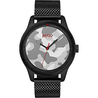 Shows Hugo 1530052 - watch mesh Milanese black man