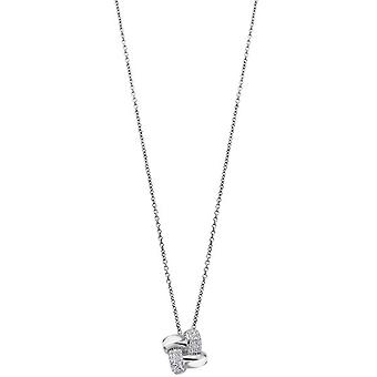 Lotus Silver Pure Essential collar and pendant LP1790-1-1 - Interlace Silver Necklace and Pendant 11 mm Women