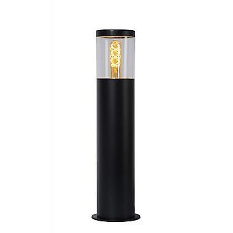 Lucide Fedor cilindro moderno acciaio nero paletto luminoso
