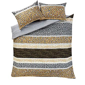 Leopard print multi Stripes dyne quilt Cover bomuld rige sengetøj sæt