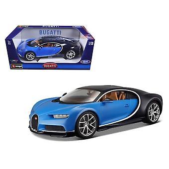 Bugatti Chiron Blue 1/18 Diecast Model Car 2016 par Bburago