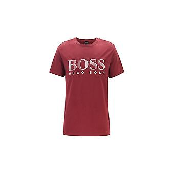 Hugo Boss Leisure Wear Hugo Boss Mens Dark Red Regular Fit UV Protected T-Shirt