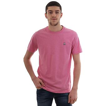 Psycho Bunny Basic Cn T Shirt With Chest Logo Hibiscus