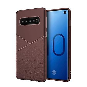 Per Samsung Galaxy S10 5G case, Armour Cover Shockproof TPU - Pelle, Marrone