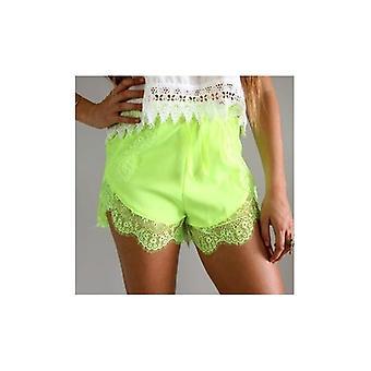 Lime Spitze Trim Shorts