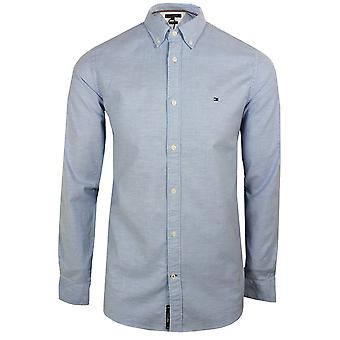 Tommy hilfiger men's blå kerne stretch slank Oxford shirt