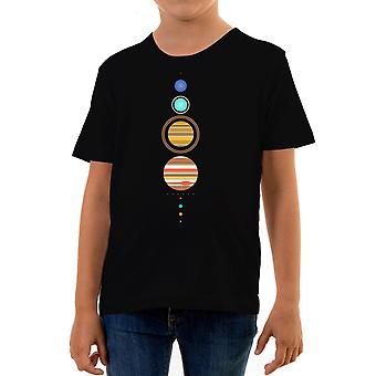 Reality glitch simple solar system kids t-shirt