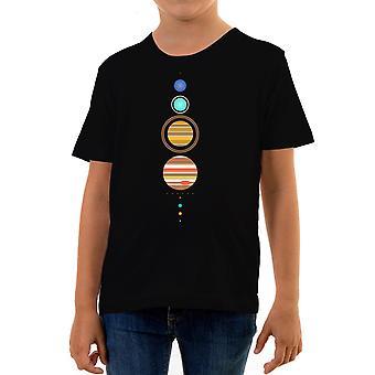 המציאות תקלה פשוטה מערכת השמש ילדים חולצת טריקו