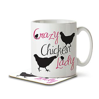 Crazy Chicken Lady - Mug and Coaster