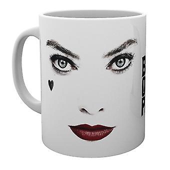 DC Comics Birds of Prey Tasse Harley Quinn Face weiß, bedruckt, aus 100 % Keramik, Fassungsvermögen ca. 320 ml.
