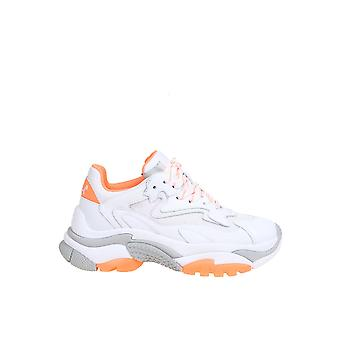 Ash Addict007 Mujer's Zapatillas de cuero blanco