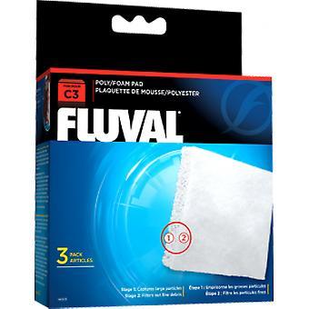 Fluval FLUVAL C3 FOAMEX/POLIESTER (kala, suodattimet & vesipumput, suodatin sieni ja vaahdon)
