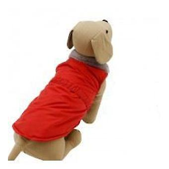 Yagu ウインドブレーカー赤 (犬、犬服レインコート)