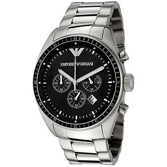 Emporio Armani Mens' Chronograph Watch - AR5855 - Black/Silver