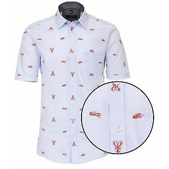 CASA MODA Casa Moda Lobster Print Short Sleeve Shirt